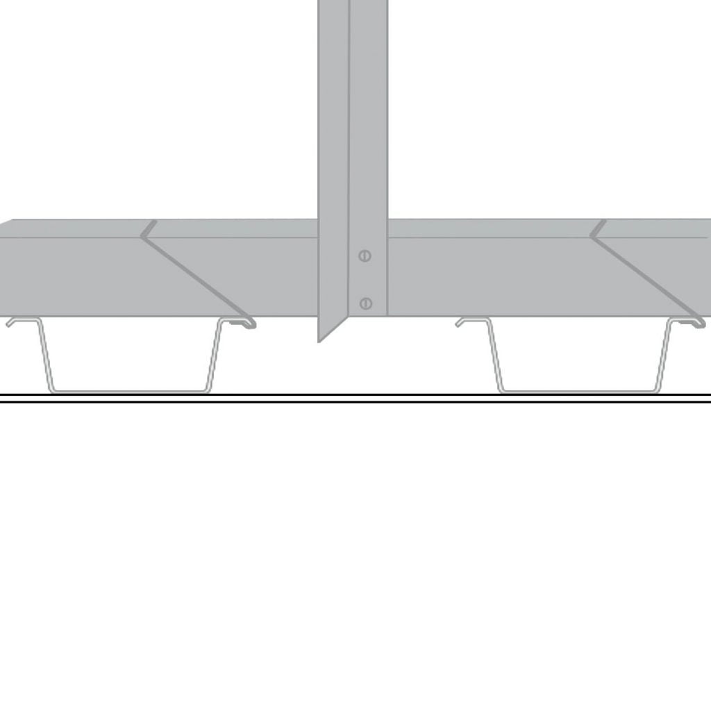 Diagram of how to install an mf ceiling