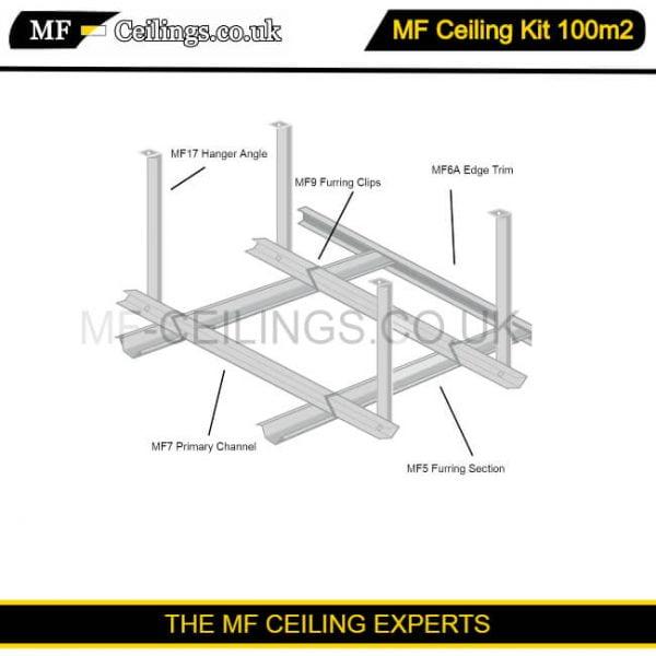 Metal Framework Ceiling Kit 100m2