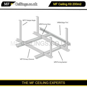 Metal Framework Ceiling Kit 200m2