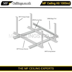 Metal Framework Ceiling Kit 1000m2