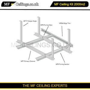 Metal Framework Ceiling Kit 2000m2