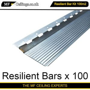 Resilient Bar Ceiling Kit 100m2