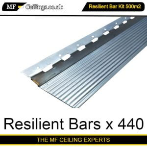 Resilient Bar Ceiling Kit 500m2